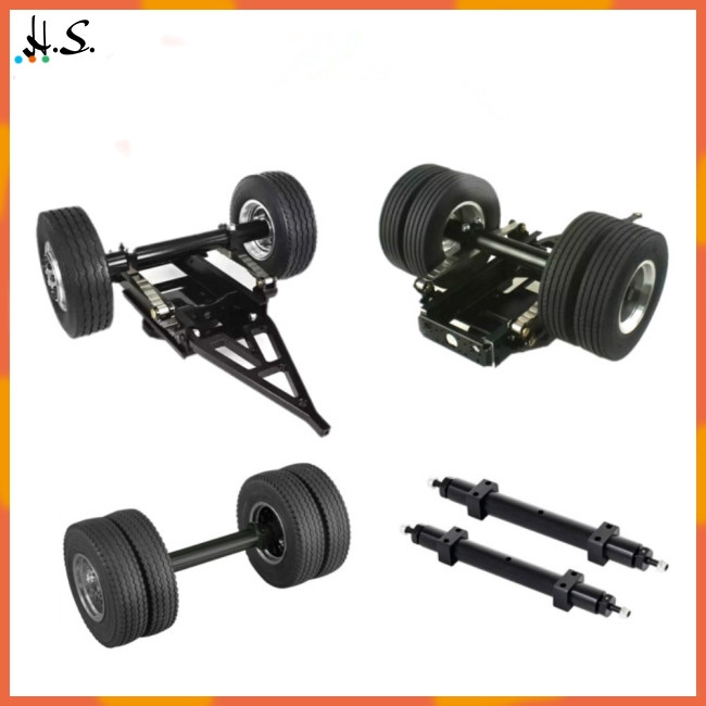 Non-powered Rear Wheel Axle For 1/14 Tamiya Rc Truck Tractor - [120MM]