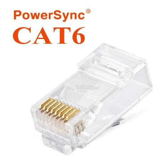 PowerSync LAN RJ45 CAT6 Connector Plug 100pcs (PRC6T-100)