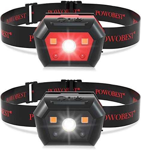 POWOBEST LED Headlamp Flashlight,Rechargeable Headlamp Flashlight with Infrare