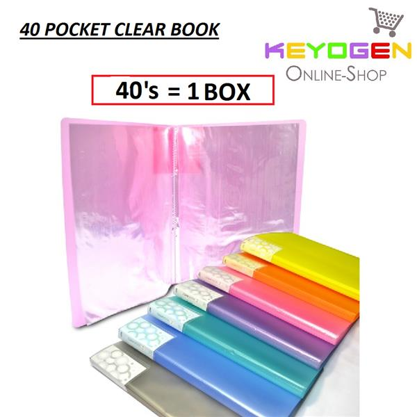 PP Clear Book 40's (Mix Colour) / 1 box