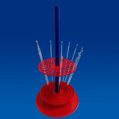 PP pipette stand, rotary, vertical for 94 pipettes, 230 mm dia. x 470