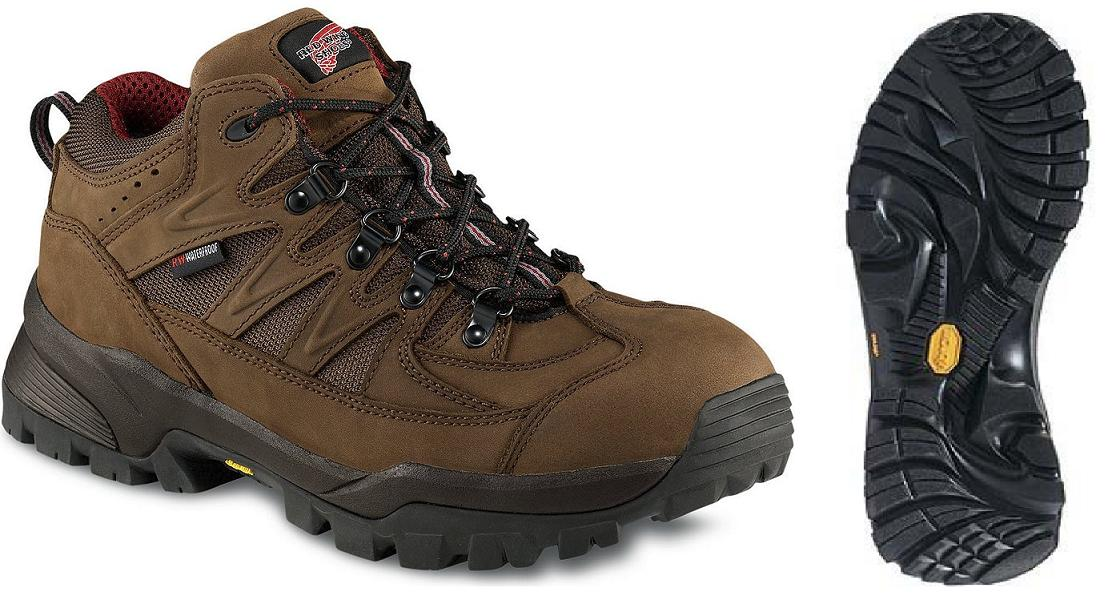 PPE Safety Shoes Red Wing Men Athletic Mid Lace Brown EH AT WP 6672
