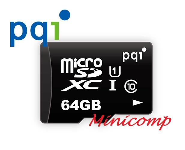 PQI Class 10 Micro SD 64GB Memory Card SDXC U1