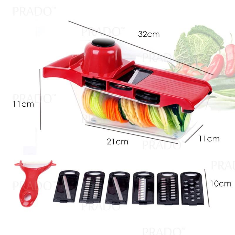 PRADO 10 in 1 Top Quality Vegetable Slicer Cutter Grater Set Food Frui