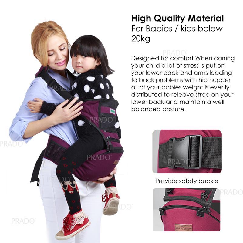 Prado 4 In 1 Baby Carrier Bag 6002 Front Breathable Infant Backpack