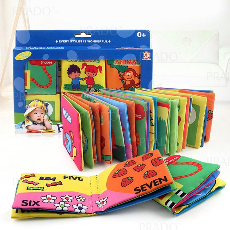 PRADO 6 in 1 Set Early Learning Cartoon Book Soft Fabric Cloth Kids Sa