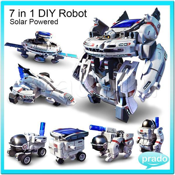 Prado 7 In 1 Space Solar Power Educational Robot Kit Diy Toy 2118