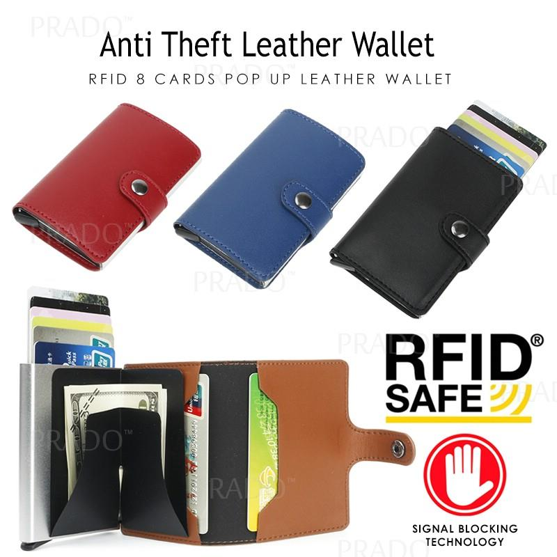 e760ad534ee3f PRADO Anti Theft RFID 8 Cards Leather Metal Wallet Credit Card Holder. ‹ ›