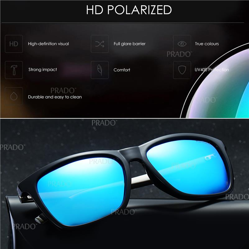 dca17875bc1 PRADO High Quality Aluminium UV400 Polarized Sunglasses Men SGA387-1