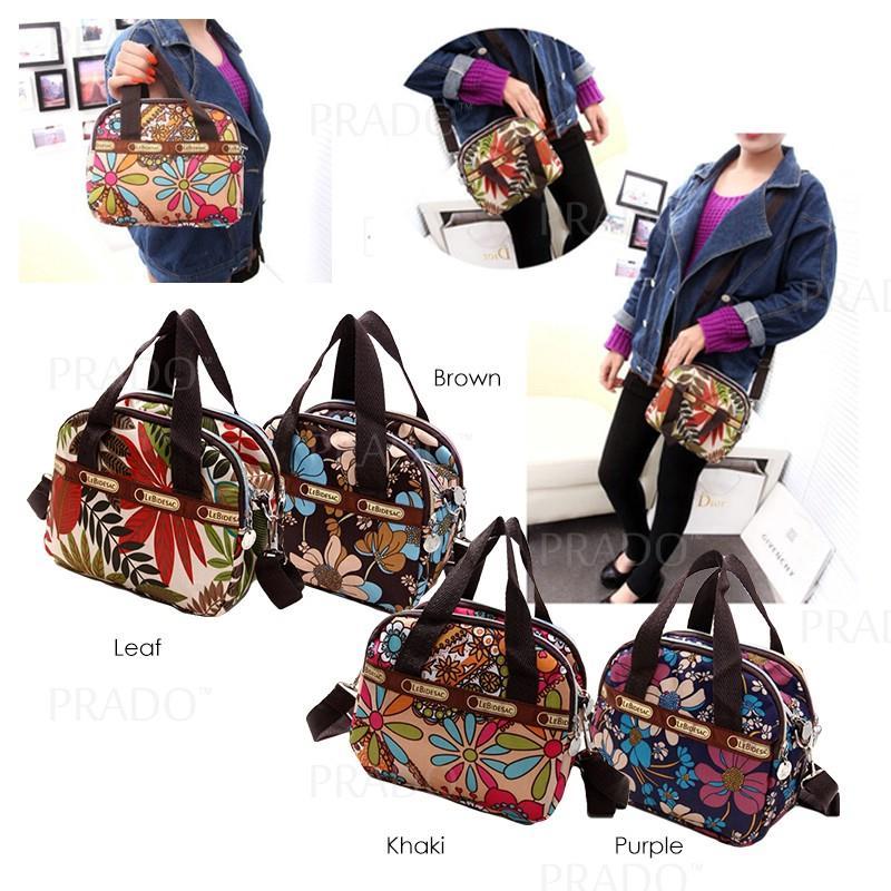 7dd14d5b4885 PRADO Korean Woman Multiple Pocket Durable Lightweight Nylon Sling Bag