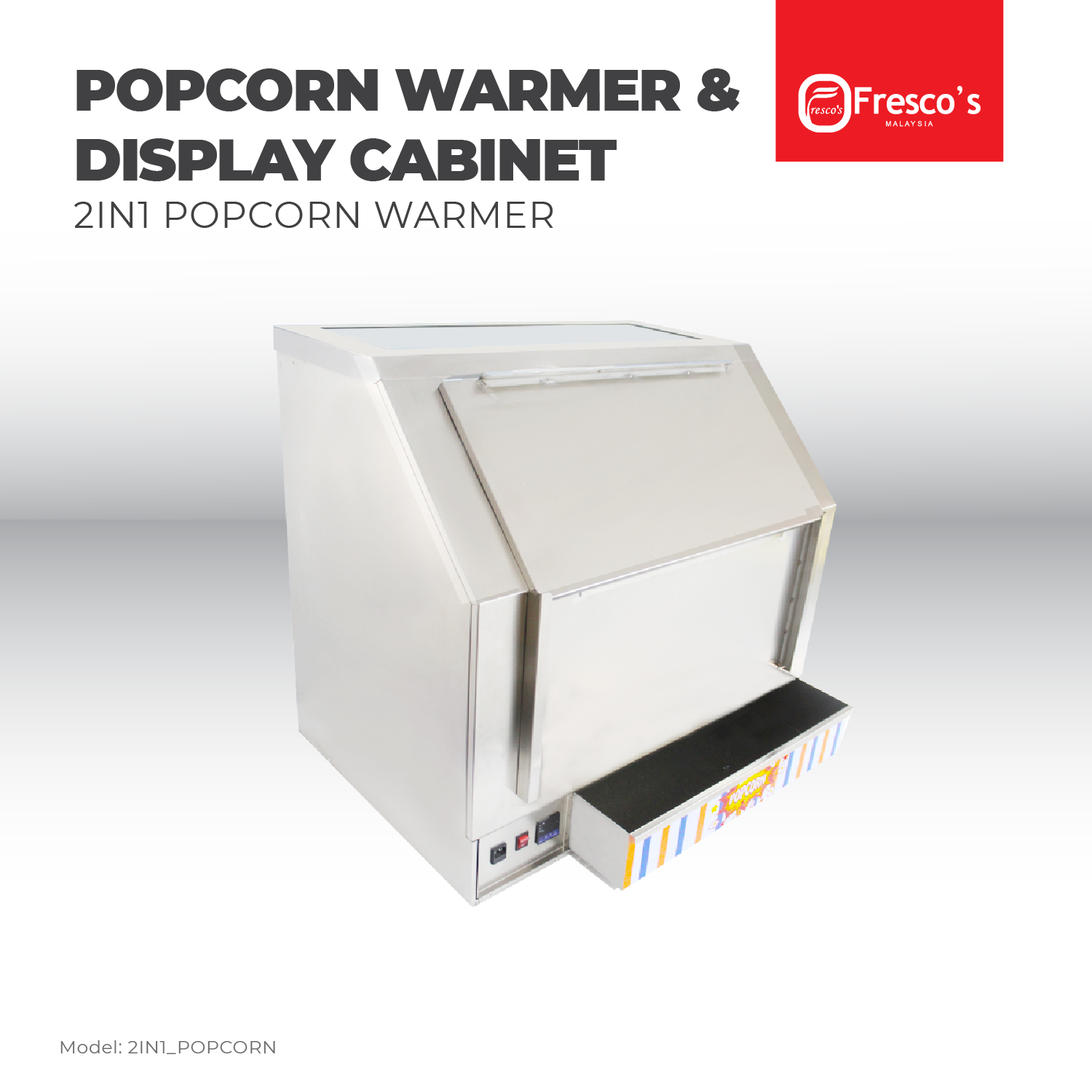 PRE ORDER Fresco Popcorn Warmer & Display Cabinet