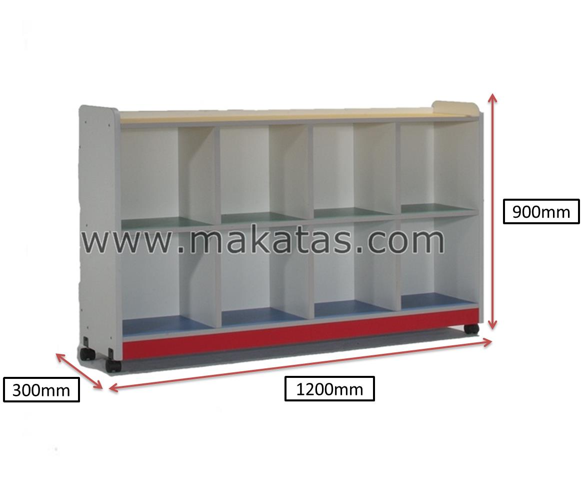 Pre-School Furniture| Rak Serbaguna|Makatas Cubby Shelf/Wheel