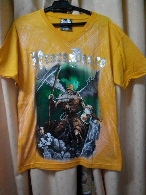 PRECEDENCE 'DEATH WINGS' T-SHIRT (YELLOW)