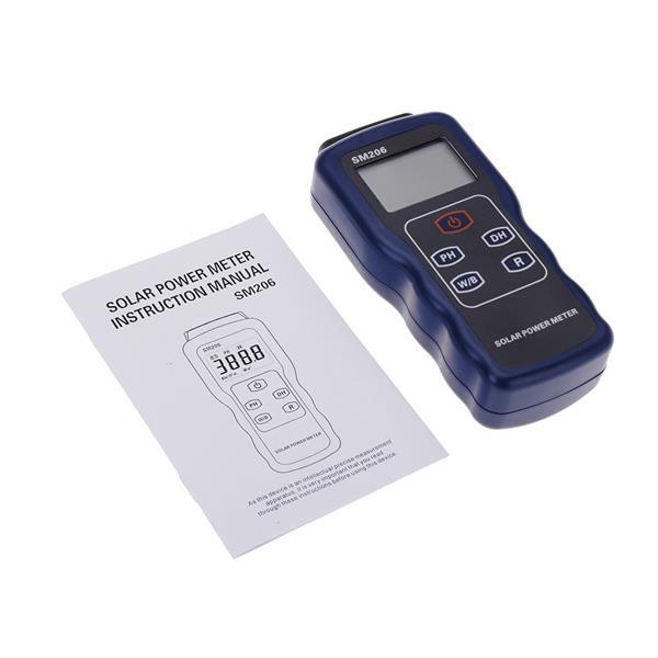 Precision Solar Power Meter Light Intensity Measurement Radiation Test. U2039 U203a