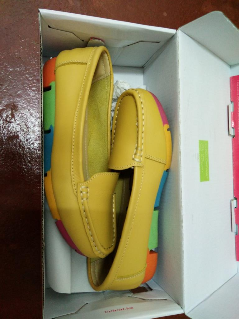 Prelove Carolina Very Comfortable Yellow Leather Shoes size 37