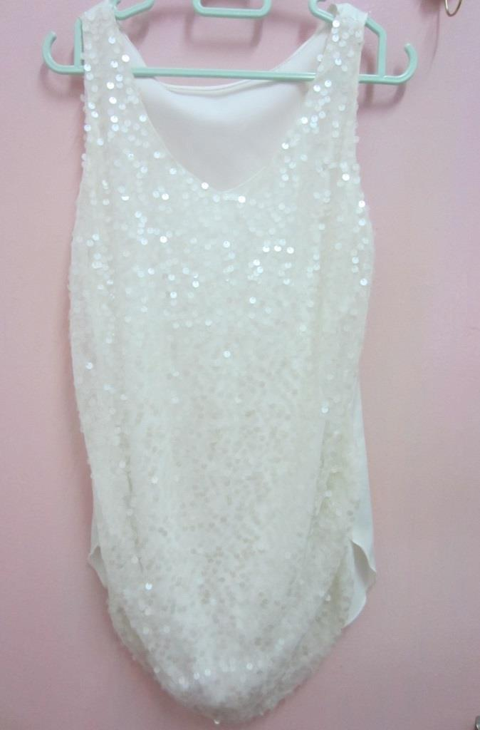 Prelove pre love used White Velvet Bling Bling Blouse 56