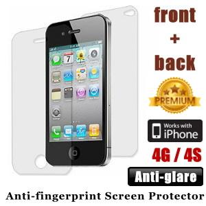 Premium Anti-glare iPhone 4 4S Screen Protector Front and Back - Matte