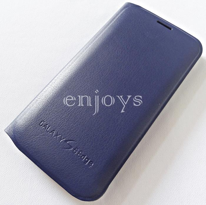 Premium BLUE Flip Wallet Flip Cover Case Samsung Galaxy S6 Edge /G925F