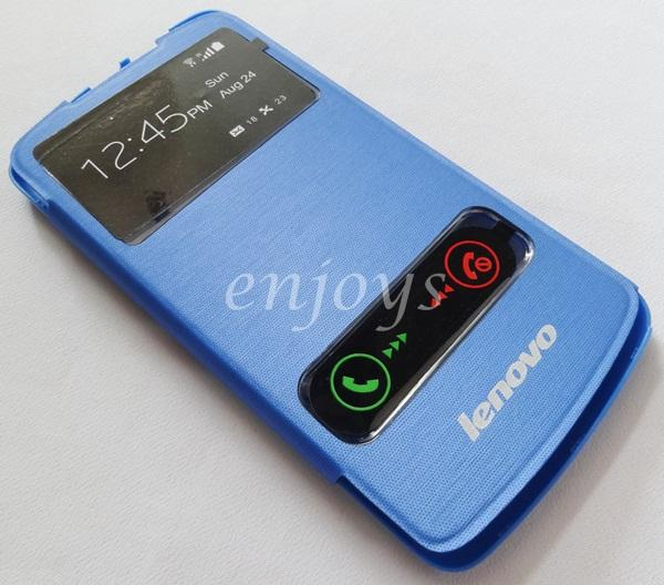 Premium Chrome BLUE S View Flip Cover Case Pouch Lenovo S920 *XPD