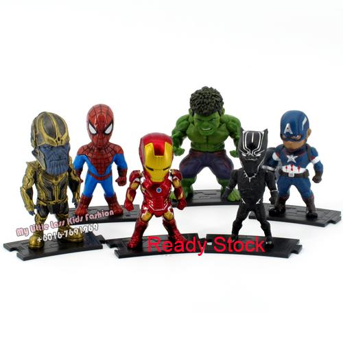 Premium Collection Avengers Q Series PVC Figure Spiderman Black Panter