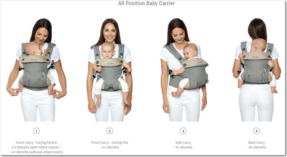 7c08bc33c4e PREMIUM Ergobaby 360 Baby Carrier All Carry Positions PROMO (Rdy Stk)