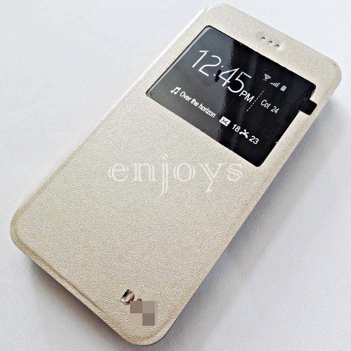 san francisco c0235 bbfc1 Premium GOLD S View Flip Soft Case Asus ZenFone 3 Max / ZC520TL ~5.2
