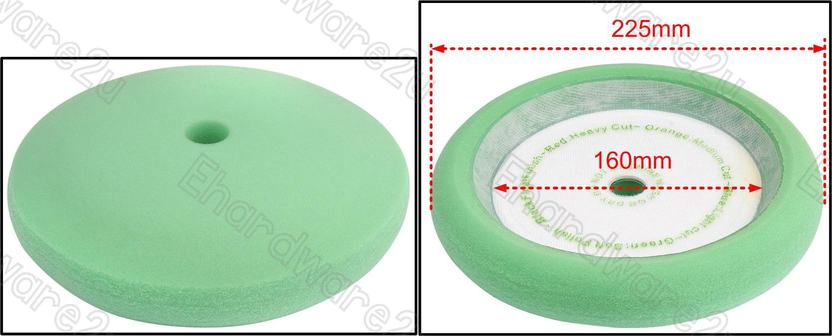 Premium Grade Soft Green Sponge Polishing Buffing 180mm / 7' (G03AP)