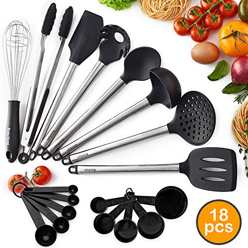 ..// Premium Kitchen Utensil Set for Cooking - 18-Piece Spatulas  & Spoons for