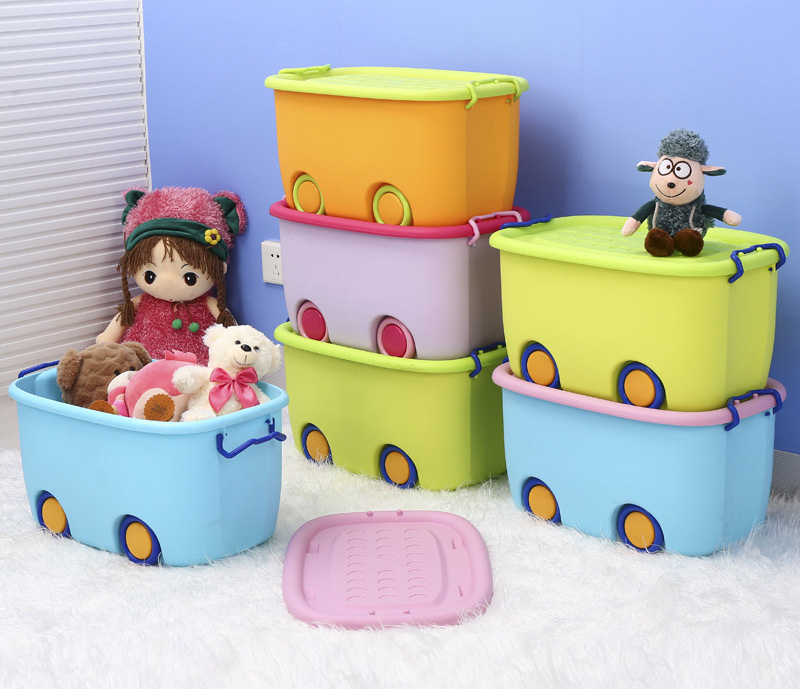 Premium Multifunctions Stackable Toy Storage Box Organiser With Wheels