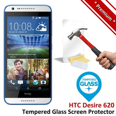 Premium Protection HTC Desire 620 Tempered Glass Screen Protector