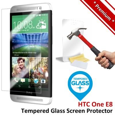 Premium Protection HTC One E8 Tempered Glass Screen Protector