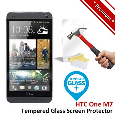 Premium Protection HTC One M7 Tempered Glass Screen Protector