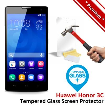 Premium Protection Huawei Honor 3C Tempered Glass Screen Protector