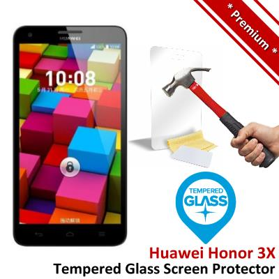 Premium Protection Huawei Honor 3X Tempered Glass Screen Protector