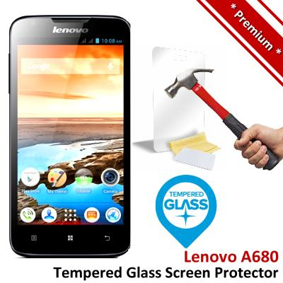 Premium Protection Lenovo A680 Tempered Glass Screen Protector