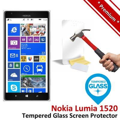 Premium Protection Nokia Lumia 1520 Tempered Glass Screen Protector