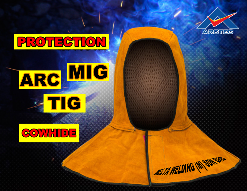 PREMIUM QUALITY Cow material Head cover welding TIG ARC MIG MALAYSIA