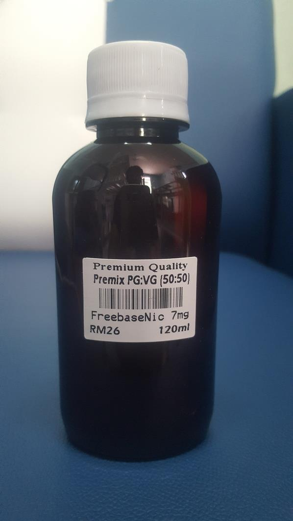 Premium Quality Premix PG:VG (50:50) Freebase Nic 7mg 120ml