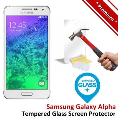 Premium Quality Samsung Galaxy Alpha Tempered Glass Screen Protector