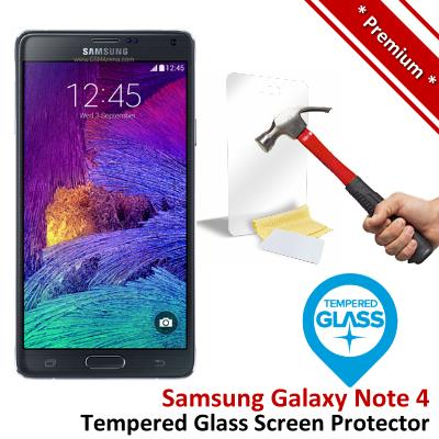 Premium Quality Samsung Galaxy Note 4 Tempered Glass Screen Protector