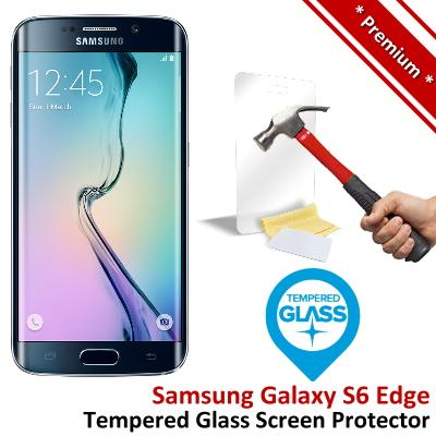Premium Quality Samsung Galaxy S6 Edge Tempered Glass Screen Protector