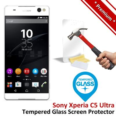 Premium Quality Sony Xperia C5 Ultra Tempered Glass Screen Protector