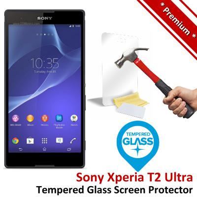 Premium Quality Sony Xperia T2 Ultra Tempered Glass Screen Protector