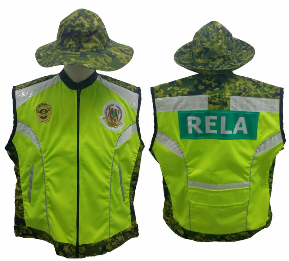 Premium Rela Safety Vest Short Sleeve With Reflective Stripes Green
