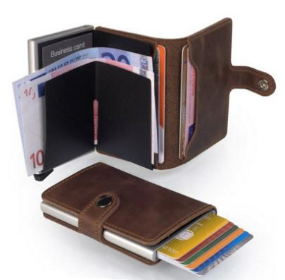 PREMIUM Secrid Single Wallet LEATHER with RFID Protection 9 Cards