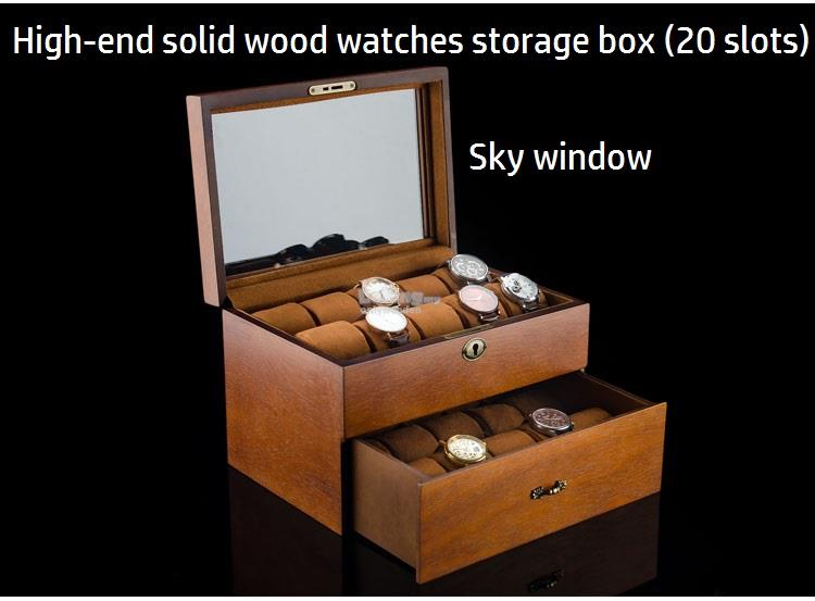 Premium Wooden Watch Storage Box Solid Wood Watches Collection Boxes