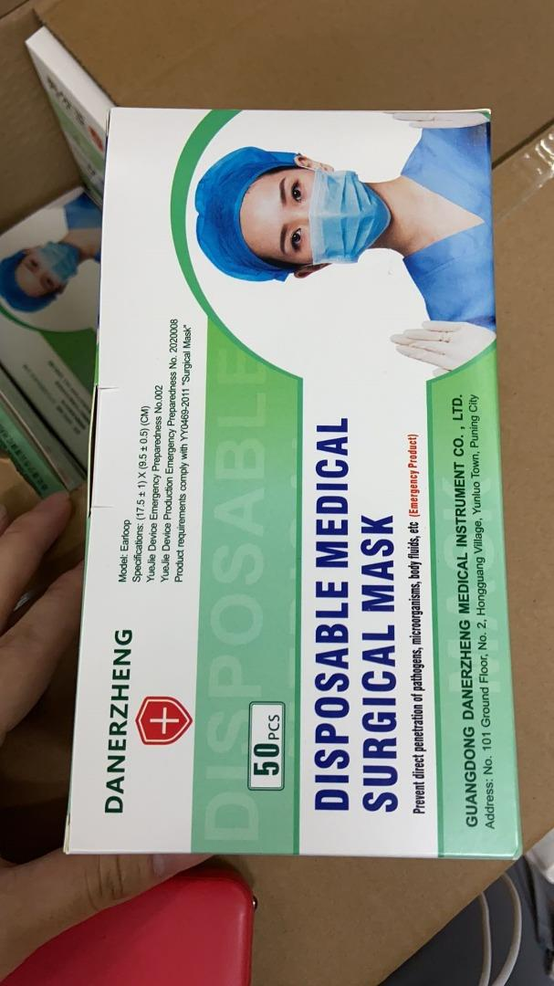 [PreSale]1 Box 50 Pcs 3 Ply Surgical Face Mask 100% Medical Mask