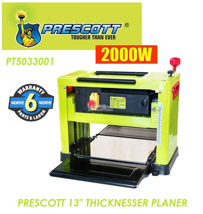 Prescott 2.0kW (330mm) 13' Portable Thickness Planer