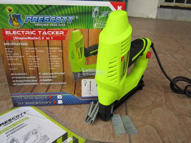 Prescott 2in1 Electric Stapler/Nailer Tacker Gun