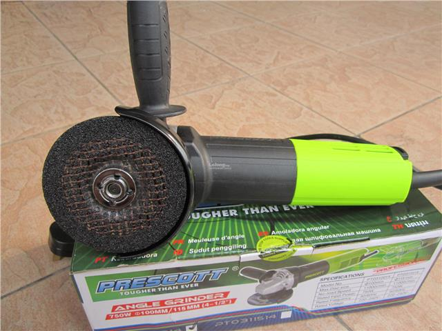 Prescott 750W (4') 100mm Professional Angle Grinder with Dust Filter